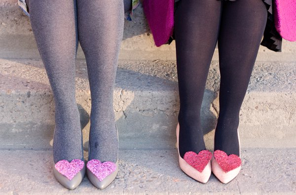 Adorable Heart Shape Shoe Clips