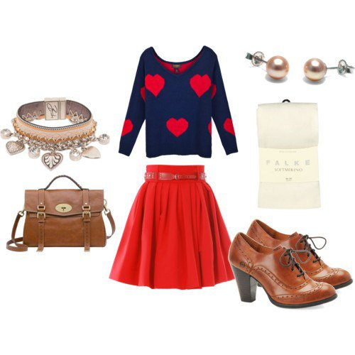 Adorable Outfit Idea for Valentine's Day