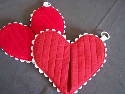 Beautiful Heart Shape Hot Pad