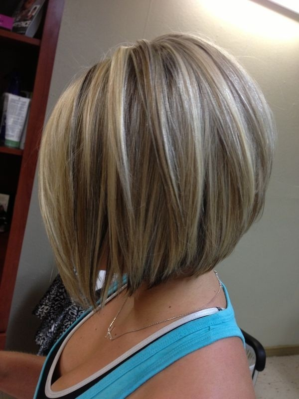 Blonde Straight Bob with Brown Highlights