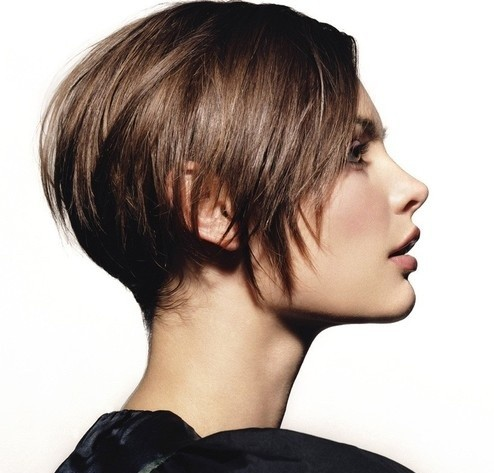 Brunette Jagged Short Haircut