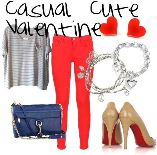 Casual Outfit Idea for Valentine's Day