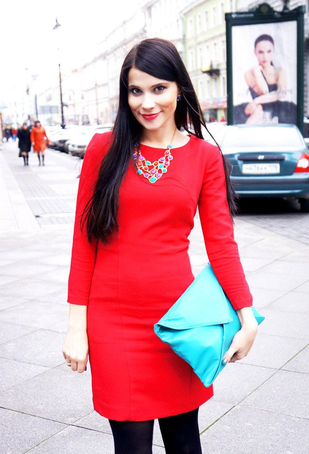 Casual Red Dress Outfit for Valentine's Day