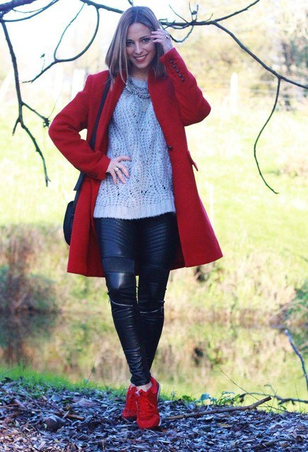 Casual-chic Red Coat Outfit Idea