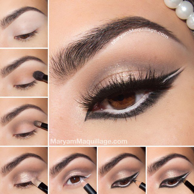 Charming Eye Makeup Tutorial with Full Eye Liners