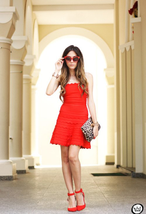Chic Red Dress Outfit Idea for Valentine's Day