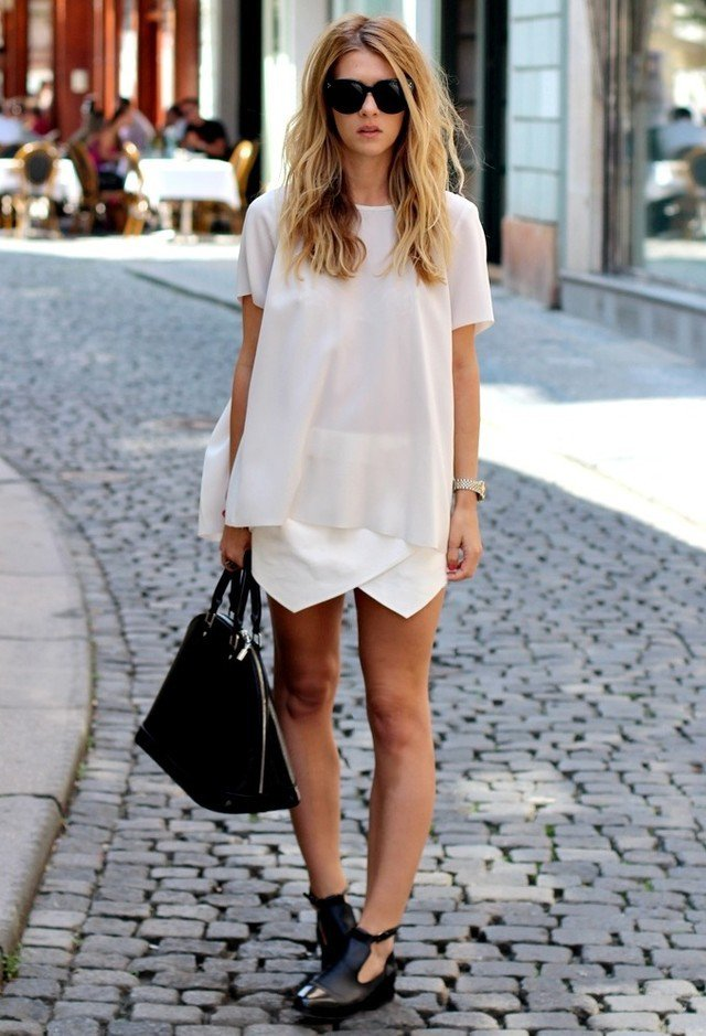 Chic White Outfit Idea for 2015