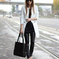 Classy Black and White Outfit for 2015