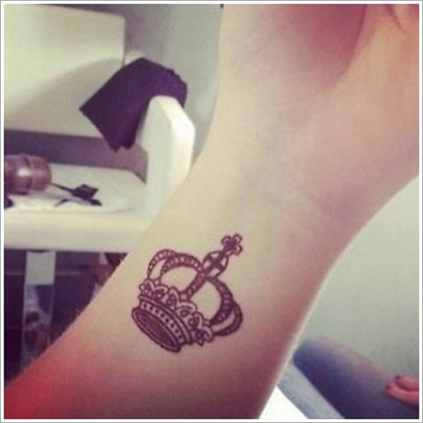 Crown Wrist Tattoo
