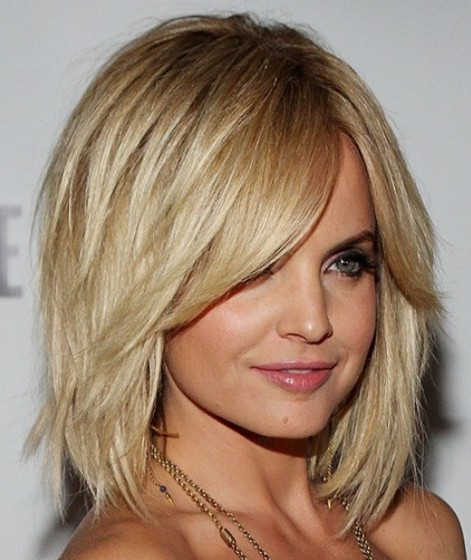 Cute Layered Lob Hairstyle
