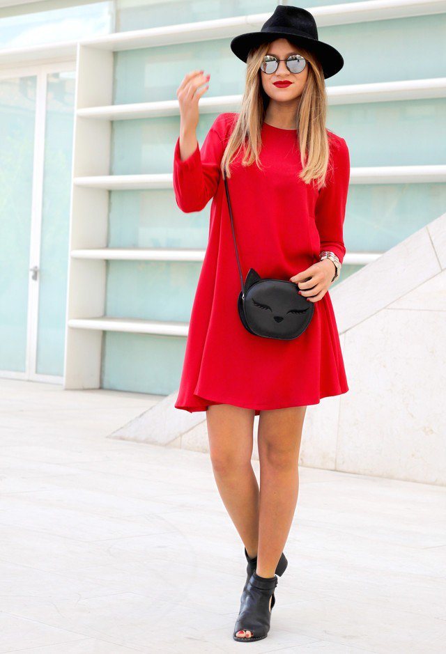 Cute and Chic Red Dress for Valentine's Day