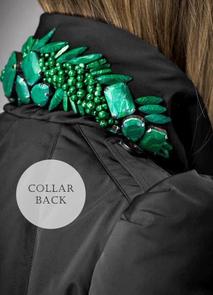 DIY Back Embellished Collar