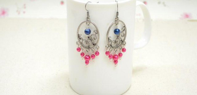 DIY Chandelier Earring with Pearls