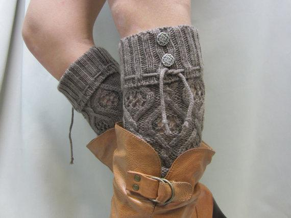 DIY Coffee Knitted Leg Warmer Tutorial