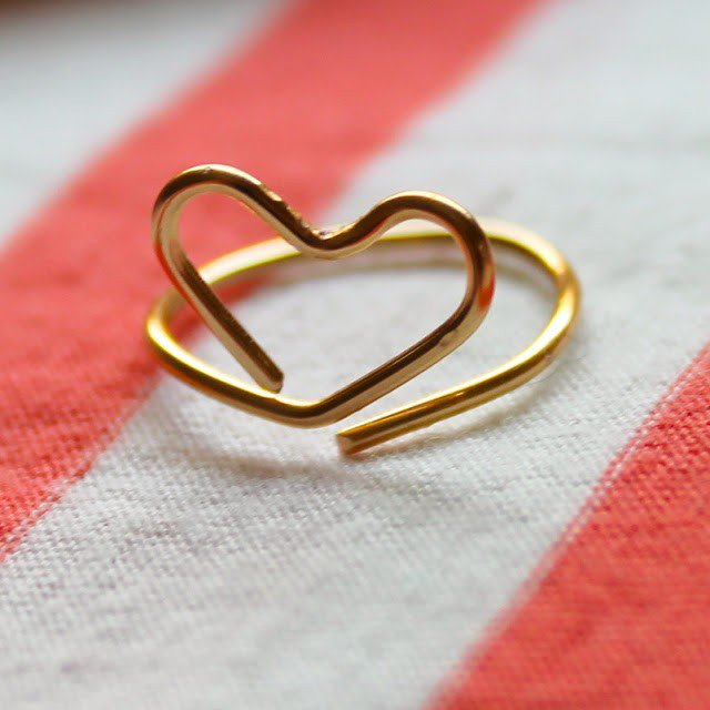 DIY Heart Shape Ring