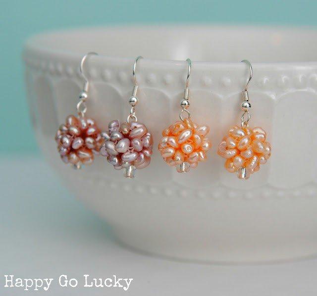 DIY Pearl Cluster Earring