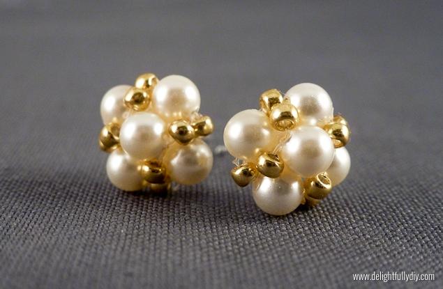 DIY Retro Pearl Earring