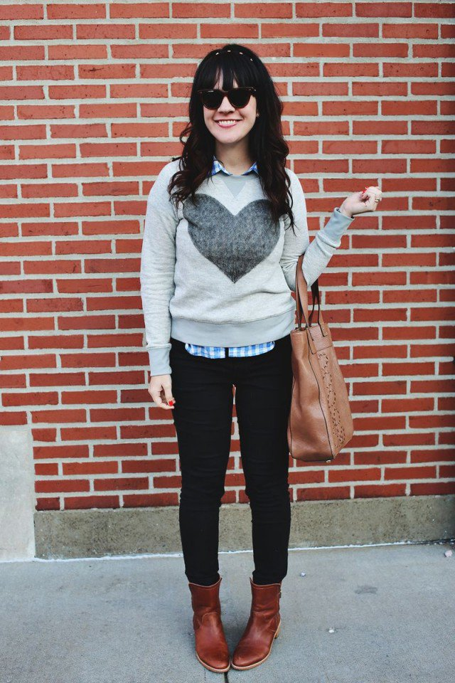 DIY Sweater with A Heart