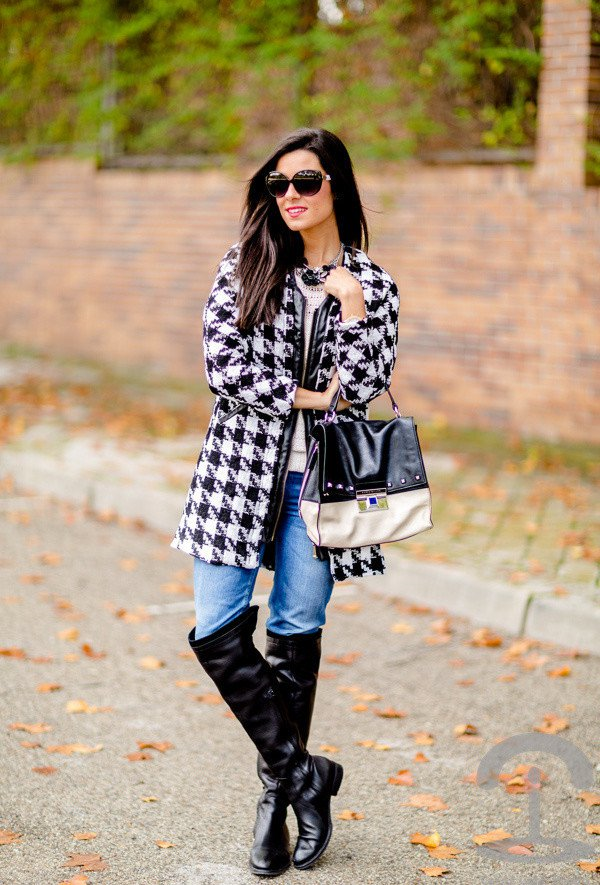 Effortless Printed Coat