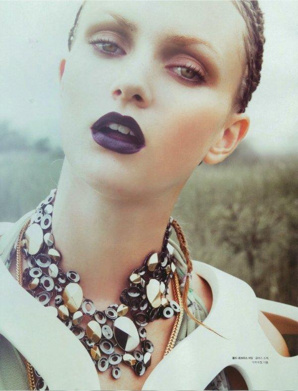 Gorgeous Makeup Idea with Purple Lipstick
