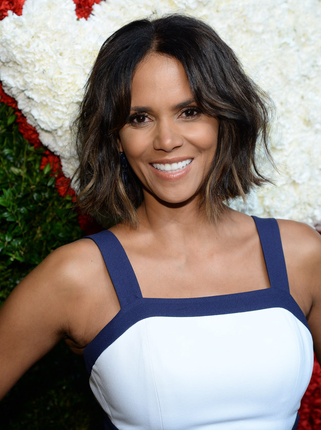 Halle Berry Center-parted Bob