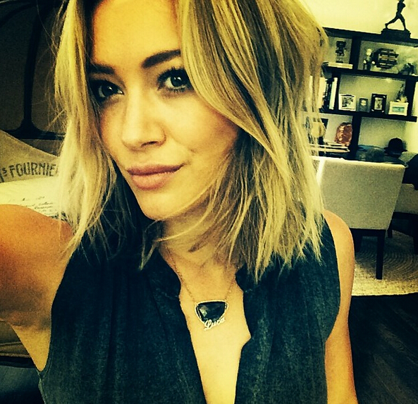 Hilary Duff Flirty Bob Hairstyle
