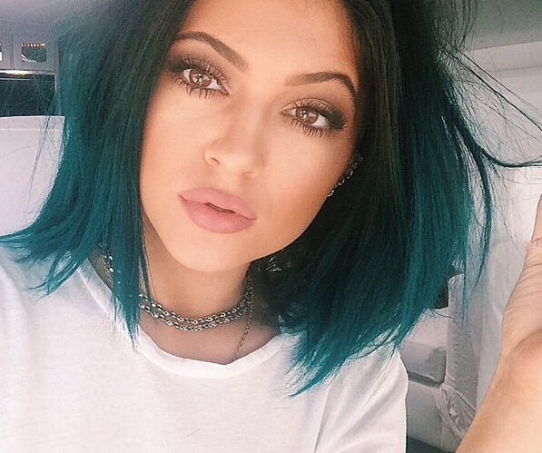 Kylie Jenner Mermaid Blue Bob Hairstyle