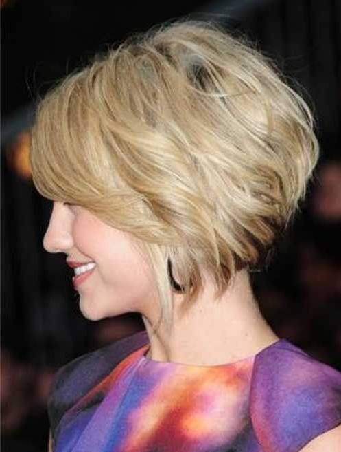 Loosely Stacked Bob Hairstyle