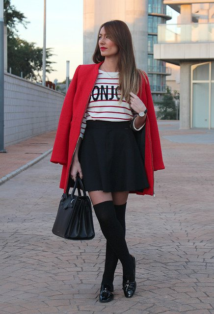 Lovely New Year Outfit with Red Coat