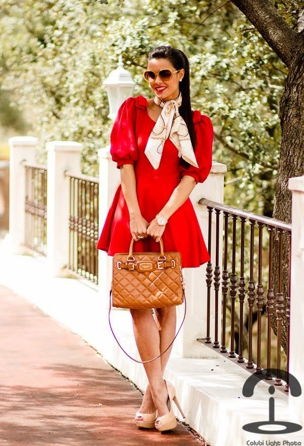 Lovely Red Dress Outfit for Valentine's Day