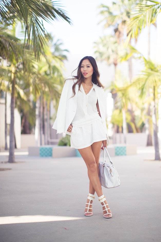 Pretty All White Outfit Idea