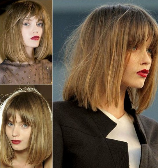 Pretty Long Bob with Bangs