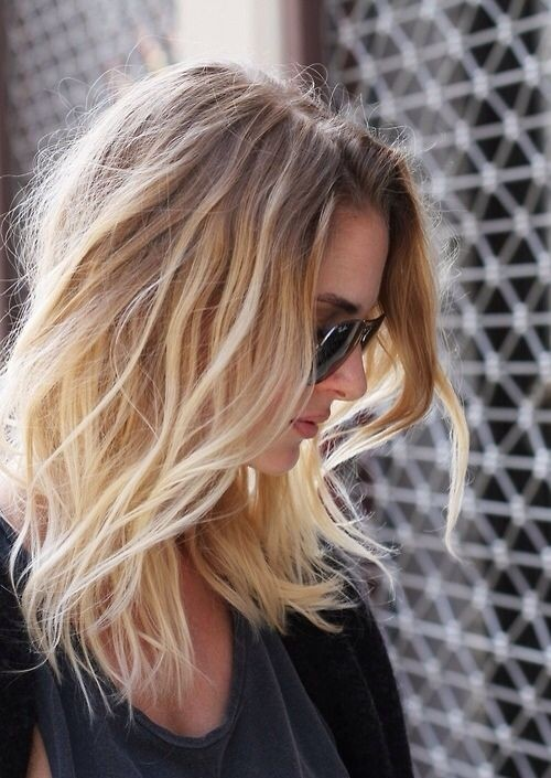 Pretty Ombre Hairstyle for Fine Hair - Medium Length Haircuts 2015