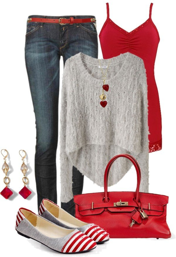 Pretty Valentine's Outfit Idea