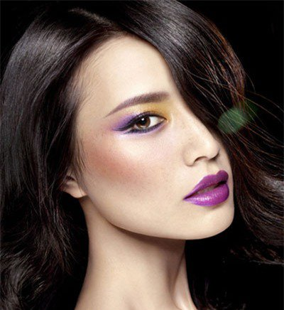 Adorable Purple Makeup Idea