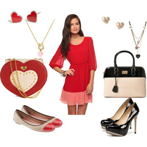 Red Dress Outfit for Valentine's Day