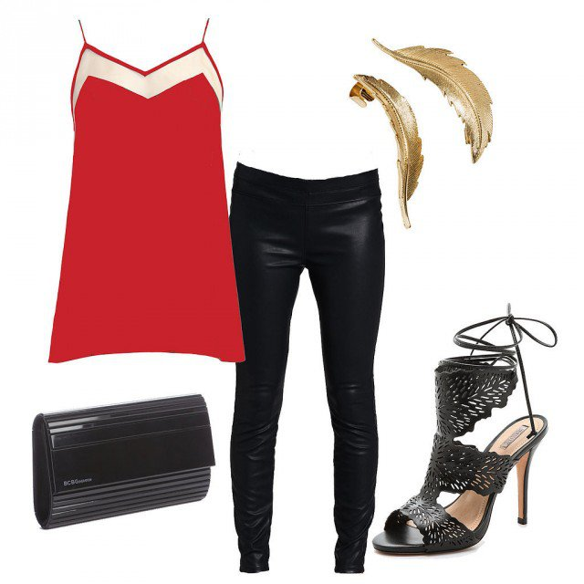Red and Black Outfit Idea for Valentine's Day