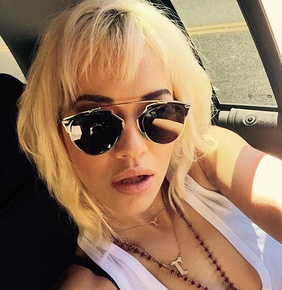 Rita Ora Edgy Blonde Bob