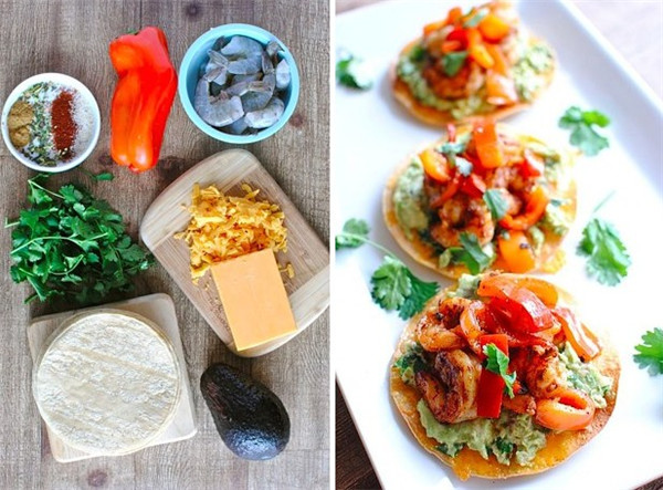 Shrimp Recipe Easy Shrimp & Guacamole Tostadas