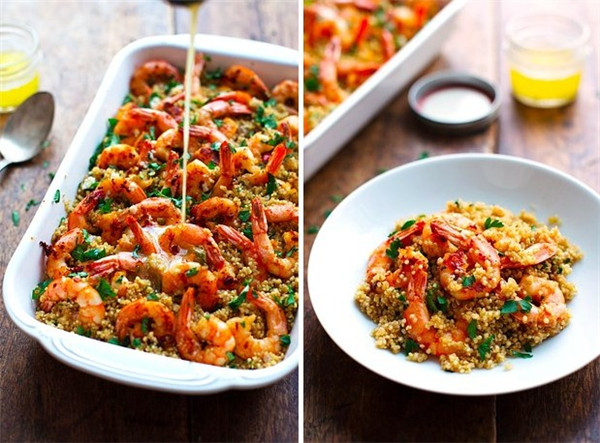 Shrimp Recipe  Garlic Butter Shrimp and Quinoa