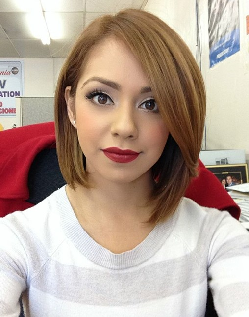 Side-parted Long Bob Hairstyle