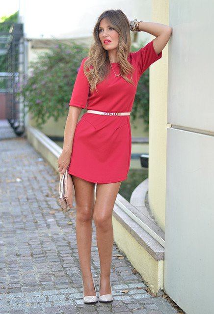 Simple Red Dress for Valentine's Day