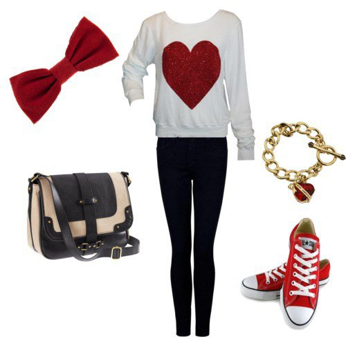 Red Dress Outfit For Valentineu0027s Day Via · Simple Valentineu0027s Outfit Idea