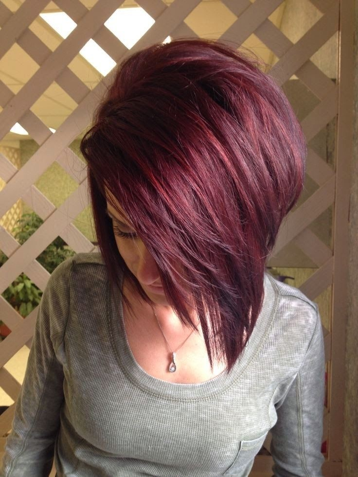 Straight Red Bob Cut - Medium Length Hairstyles 2015