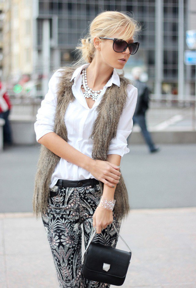Stunning Fur Coat Outfit Idea