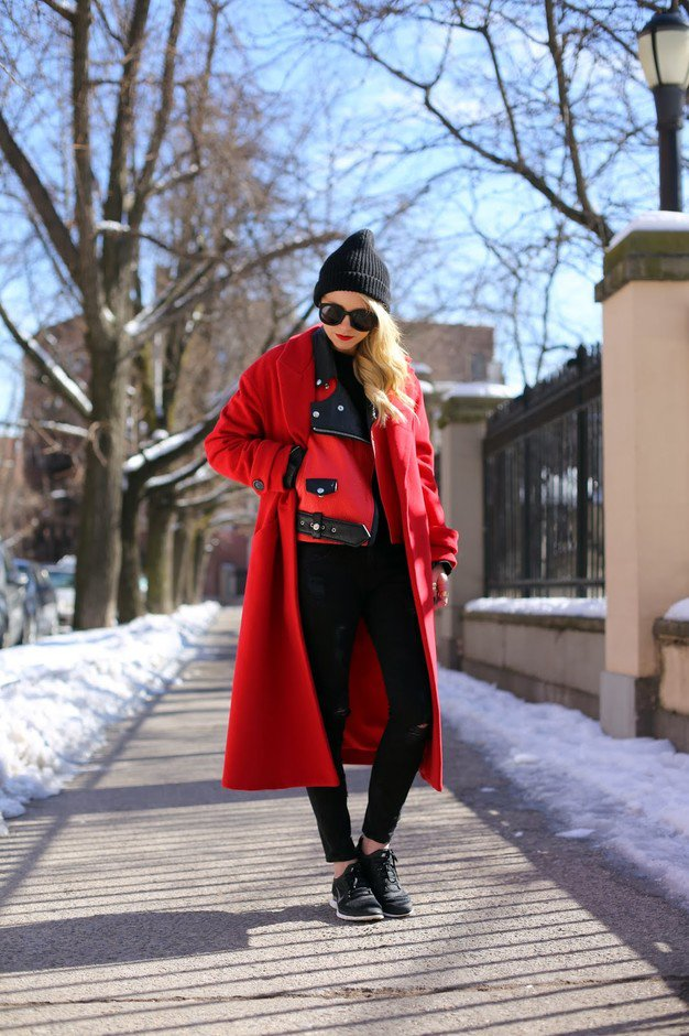 13 Fashionable Red Coats Outfit Ideas for New Year | Styles Weekly