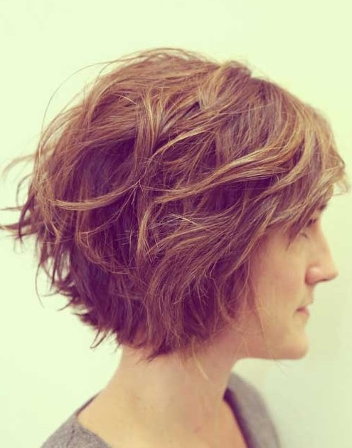 Stylish Tousled Bob Hairstyle