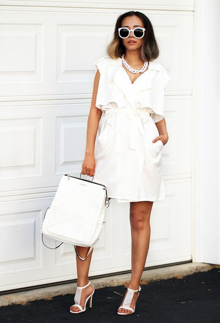 Stylish White Dress Outfit for 2015