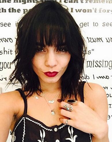 Vanessa Hudgens Messy Black Bob