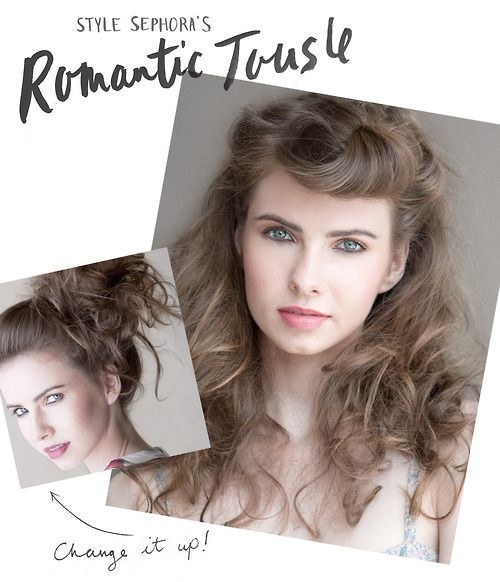 Romantically Tousled Garden Party Hair